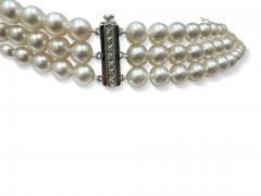 Rare triple strand of Akoya Japanese pearls - 2051868