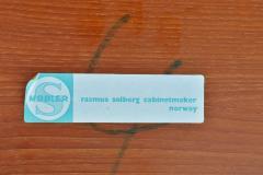 Rasmus Solberg Lovely Set of 3 Solid Teak Knife Edge Nesting Tables by Rasmus Solberg - 2068046