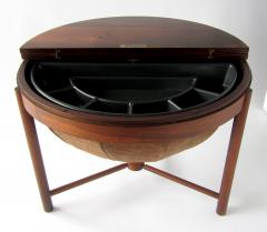 Rastad Relling Side Table bar with Suede basket by Rastad Relling Rasmus Solberg - 1179475