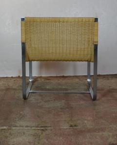 Rattan Chrome Lounge Chairs by Milo Baughman - 1101607