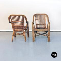 Rattan armchairs 1960s - 1968306