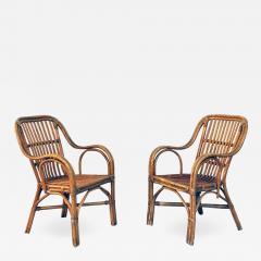 Rattan armchairs 1960s - 1970921