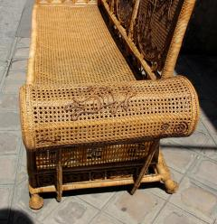 Rattan caned sofa with fine decor France or Asia circa 1930 - 1065611