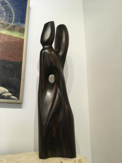 Raul Varnerin Vintage Abstract Sculpture of two combined figures - 1286417