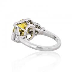 Raymond C Yard RAYMOND C YARD 5 CARAT ROUND DIAMOND FANCY INTENSE YELLOW GIA ENGAGEMENT RING - 1858394