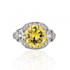 Raymond C Yard RAYMOND C YARD 5 CARAT ROUND DIAMOND FANCY INTENSE YELLOW GIA ENGAGEMENT RING - 1858396