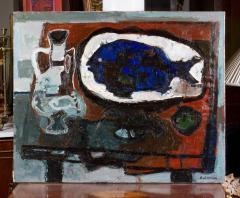Raymond Guerrier P 02 Dorade Bleue Painting by Raymond Guerrier - 291134