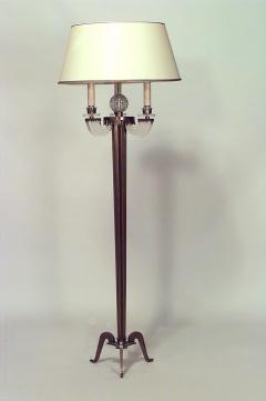 Raymond Lorence French 1940s Fluted Brass Column Floor Lamp - 465948