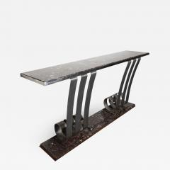 Raymond Subes 1930s Art Deco Style Marble Stainless Steel Console Designed by Raymond Subes - 976716