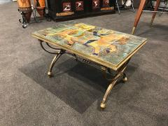 Raymond Subes BRONZE LOW TABLE IN THE MANNER OF RAYMOND SUBES DECORATED WITH A CERAMIC TOP - 1911443