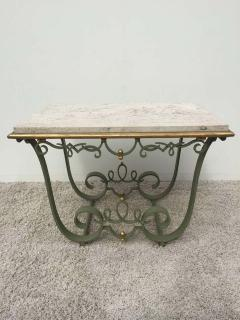 Raymond Subes Raymond Subes Attributed Iron and Gilt Marble Table - 1781628