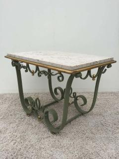 Raymond Subes Raymond Subes Attributed Iron and Gilt Marble Table - 1781629