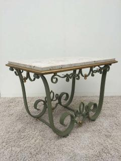 Raymond Subes Raymond Subes Attributed Iron and Gilt Marble Table - 1781630