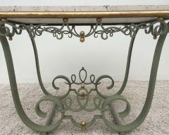 Raymond Subes Raymond Subes Attributed Iron and Gilt Marble Table - 1781631