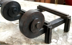 Raymond Subes Raymond Subes Superb Powerful Wrought Iron Andiron - 417766