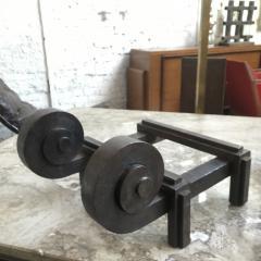 Raymond Subes Raymond Subes Superb Powerful Wrought Iron Andiron - 417797