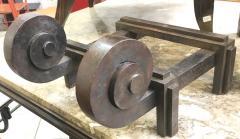 Raymond Subes Raymond Subes Superb Powerful Wrought Iron Andiron - 417800