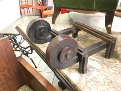 Raymond Subes Raymond Subes Superb Powerful Wrought Iron Andiron - 417836