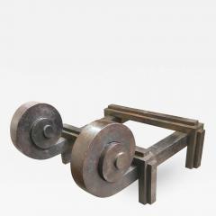 Raymond Subes Raymond Subes Superb Powerful Wrought Iron Andiron - 419045