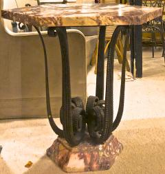 Raymond Subes Raymond Subes exceptional wrought iron coffee table or center table - 1206403