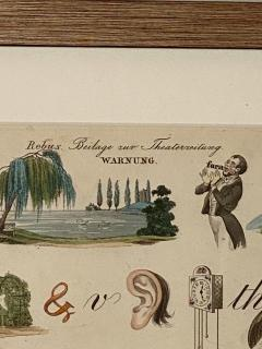 Rebus Picture puzzle Germany 19th Century - 1646444