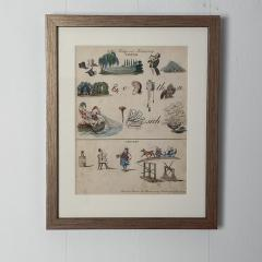 Rebus Picture puzzle Germany 19th Century - 1646445