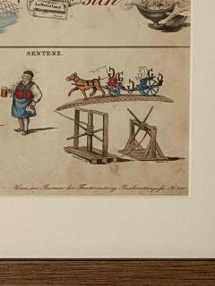 Rebus Picture puzzle Germany 19th Century - 1646446