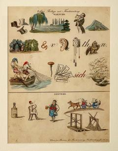 Rebus Picture puzzle Germany 19th Century - 1646447