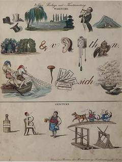 Rebus Picture puzzle Germany 19th Century - 1648075