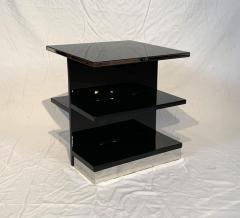 Rectangular Sofa Table Black Lacquer and Nickel France circa 1930 - 1730229