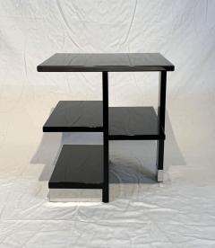 Rectangular Sofa Table Black Lacquer and Nickel France circa 1930 - 1730236