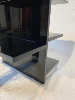 Rectangular Sofa Table Black Lacquer and Nickel France circa 1930 - 1730268