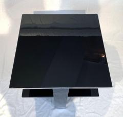 Rectangular Sofa Table Black Lacquer and Nickel France circa 1930 - 1730269