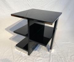 Rectangular Sofa Table Black Lacquer and Nickel France circa 1930 - 1730272