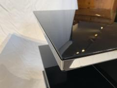 Rectangular Sofa Table Black Lacquer and Nickel France circa 1930 - 1730285