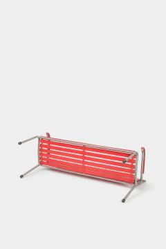 Red Bigla garden bench 50s - 1937965