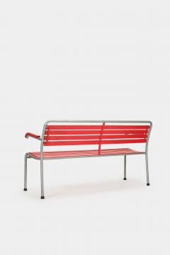 Red Bigla garden bench 50s - 1937967