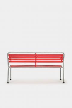 Red Bigla garden bench 50s - 1937971