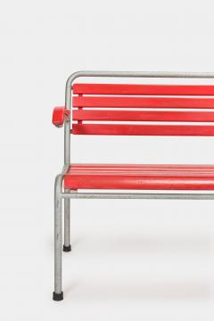 Red Bigla garden bench 50s - 1937998