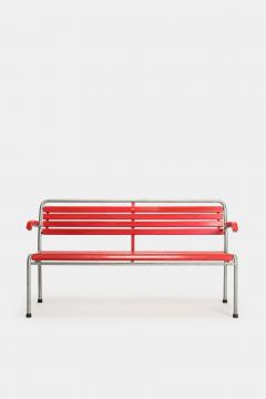 Red Bigla garden bench 50s - 1938003