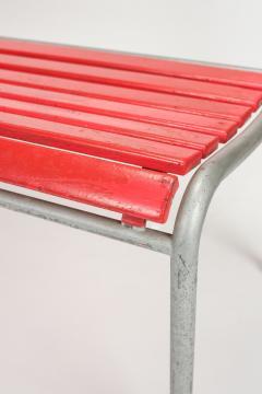 Red Bigla garden bench 50s - 1938005