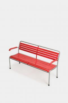 Red Bigla garden bench 50s - 1938008