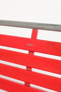 Red Bigla garden bench 50s - 1938009
