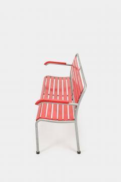 Red Bigla garden bench 50s - 1938013