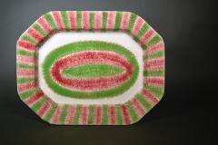 Red Green Large Spatterware Dish Northern English or Scottish - 1777844
