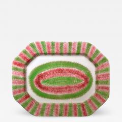 Red Green Large Spatterware Dish Northern English or Scottish - 1777931