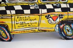 Red Grooms Red Grooms Ruckus Taxi Folded 3 D Lithographic Sculpture - 1045702