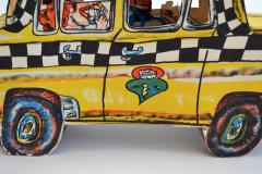 Red Grooms Red Grooms Ruckus Taxi Folded 3 D Lithographic Sculpture - 1045704