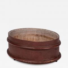 Red Painted Swedish Decorative Bowl - 1839858