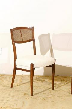 Regal Set Of Six Walnut And Cane Dining Chairs   333810